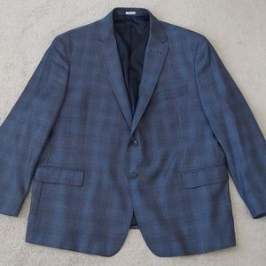 Joseph Abboud blue plaid blazer